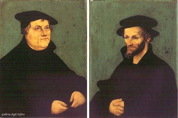 The elder portraits of martin luther and philipp melanchthon